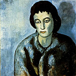 Pablo Picasso (1881-1973) Period of creation: 1889-1907 - 1902 La femme avec la bordure
