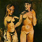 Pablo Picasso (1881-1973) Period of creation: 1889-1907 - 1906 Deux femmes nues2