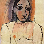 Pablo Picasso (1881-1973) Period of creation: 1889-1907 - 1907 Buste de femme1