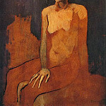Pablo Picasso (1881-1973) Period of creation: 1889-1907 - 1905 Femme nue assise