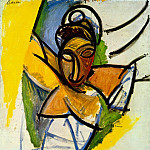 1907 Demoiselle dAvinyв, Pablo Picasso (1881-1973) Period of creation: 1889-1907