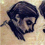 1900 Casagemas de face et de profil, Pablo Picasso (1881-1973) Period of creation: 1889-1907