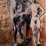 Pablo Picasso (1881-1973) Period of creation: 1889-1907 - 1906 Meneur de cheval nu2