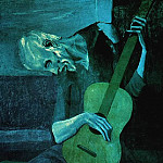 1903 Le Vieux guitariste aveugle, Pablo Picasso (1881-1973) Period of creation: 1889-1907