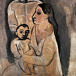 Pablo Picasso (1881-1973) Period of creation: 1889-1907 - 1906 Homme, femme, et enfant. JPG