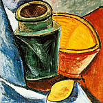 Pablo Picasso (1881-1973) Period of creation: 1889-1907 - 1907 Cruche, bol et citron