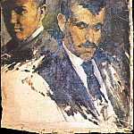 1895 Autoportrait auprКs dun parent, Pablo Picasso (1881-1973) Period of creation: 1889-1907