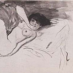 1901 nu couchВ, Pablo Picasso (1881-1973) Period of creation: 1889-1907