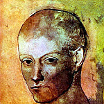 1906 TИte de jeune homme, Pablo Picasso (1881-1973) Period of creation: 1889-1907