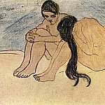 1902 Homme et femme, Pablo Picasso (1881-1973) Period of creation: 1889-1907