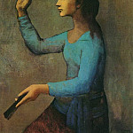 Pablo Picasso (1881-1973) Period of creation: 1889-1907 - 1905 Femme Е lВventail