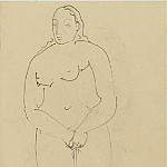 Pablo Picasso (1881-1973) Period of creation: 1889-1907 - 1906 Portrait de femme