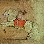 Pablo Picasso (1881-1973) Period of creation: 1889-1907 - 1905 Equestrienne Е cheval
