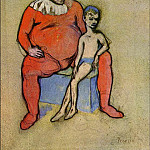 Pablo Picasso (1881-1973) Period of creation: 1889-1907 - 1905 Bouffon et jeune acrobate