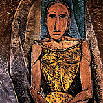 1907 Femme au corsage jaune, Pablo Picasso (1881-1973) Period of creation: 1889-1907
