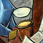 1907 Pots et citron, Pablo Picasso (1881-1973) Period of creation: 1889-1907
