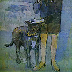 1905 GarЗon avec un chien, Pablo Picasso (1881-1973) Period of creation: 1889-1907