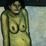 Pablo Picasso (1881-1973) Period of creation: 1889-1907 - 1901 Femme nue assise