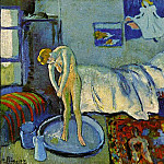 Pablo Picasso (1881-1973) Period of creation: 1889-1907 - 1901 La chambre bleue (Le tub)