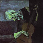 1903 Le vieux guitariste, Pablo Picasso (1881-1973) Period of creation: 1889-1907