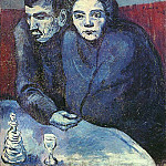 1903 Couple dans un cafВ, Pablo Picasso (1881-1973) Period of creation: 1889-1907