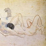 Pablo Picasso (1881-1973) Period of creation: 1889-1907 - 1902 Homme et femme avec un chat