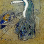 1901 La diseuse, Pablo Picasso (1881-1973) Period of creation: 1889-1907