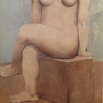 Pablo Picasso (1881-1973) Period of creation: 1889-1907 - 1906 Femme nue sur pierre carrВe
