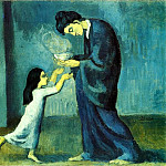 Pablo Picasso (1881-1973) Period of creation: 1889-1907 - 1902 La soupe