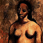 Pablo Picasso (1881-1973) Period of creation: 1889-1907 - 1906 Buste de femme