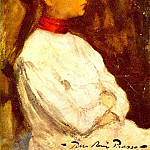Pablo Picasso (1881-1973) Period of creation: 1889-1907 - 1899 Portrait de Lola2