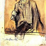 1899 Portrait de Jaume SabartВs, Pablo Picasso (1881-1973) Period of creation: 1889-1907