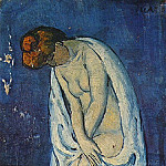 1901 Femme sortant du bain, Pablo Picasso (1881-1973) Period of creation: 1889-1907