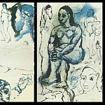 1906 Femme assise2, Pablo Picasso (1881-1973) Period of creation: 1889-1907