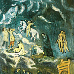 Pablo Picasso (1881-1973) Period of creation: 1889-1907 - 1901 Evocation (Lenterrement de Casagemas)