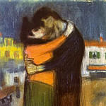Pablo Picasso (1881-1973) Period of creation: 1889-1907 - 1900 Les amants dans la rue (L Вtreinte)