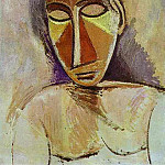 1907 Nu buste, Pablo Picasso (1881-1973) Period of creation: 1889-1907
