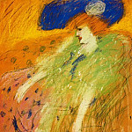 Pablo Picasso (1881-1973) Period of creation: 1889-1907 - 1901 Femme au chapeau bleu