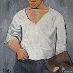 Pablo Picasso (1881-1973) Period of creation: 1889-1907 - 1906 Autoportrait Е la palette