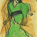 Pablo Picasso (1881-1973) Period of creation: 1889-1907 - 1901 La danseuse Sada Yacco