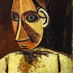 1907 TИte de femme, Pablo Picasso (1881-1973) Period of creation: 1889-1907