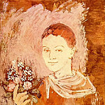 Pablo Picasso (1881-1973) Period of creation: 1889-1907 - 1905 GarЗon avec un bouquet de fleurs