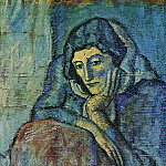 1902 Femme en bleu, Pablo Picasso (1881-1973) Period of creation: 1889-1907