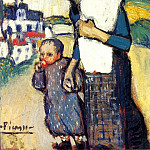 1901 MКre et enfant2, Pablo Picasso (1881-1973) Period of creation: 1889-1907