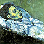 1901 La mort de Casagemas , Pablo Picasso (1881-1973) Period of creation: 1889-1907