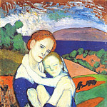 Pablo Picasso (1881-1973) Period of creation: 1889-1907 - 1901 MКre et son enfant