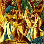 1907 Cinq femmes2, Pablo Picasso (1881-1973) Period of creation: 1889-1907