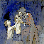 Pablo Picasso (1881-1973) Period of creation: 1889-1907 - 1905 Famille darlequin