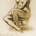 1899 Femme nue assise2, Pablo Picasso (1881-1973) Period of creation: 1889-1907
