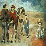 Pablo Picasso (1881-1973) Period of creation: 1889-1907 - 1905 Famille de saltimbanques (Les bateleurs)